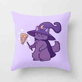 Kitty Wizard Throw Pillow