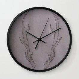 Hannibal Ravenstag Antlers Wall Clock