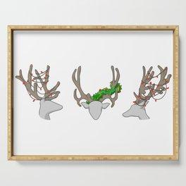 Christmas Reindeer Wreath Serving Tray