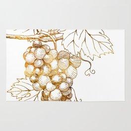 Grapes of Dionysus God of Wine Rug