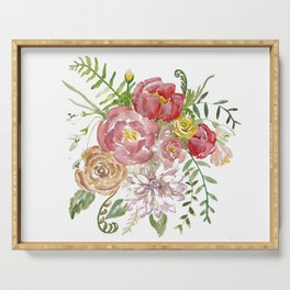Bouquet of Spring Flowers Serving Tray