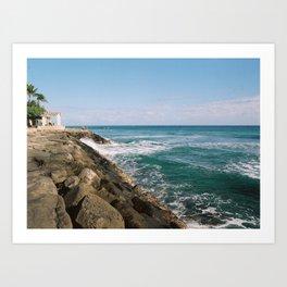 Blue Ocean Hawaii  Art Print