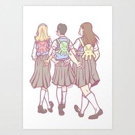Three's Trouble Art Print