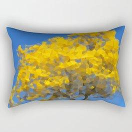 Blooming tree Geometric yellow and blue Rectangular Pillow