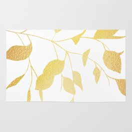 Gold Leaves Rug