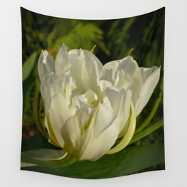 Double White Tulip by Teresa Thompson Wall Tapestry