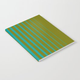 gradient stripes aqua olive Notebook