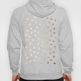 Simply Dots in White Gold Sands Hoody