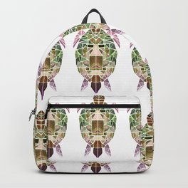 green mosaic turtle Backpack