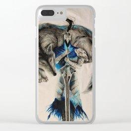 Dark souls abyss walker Clear iPhone Case
