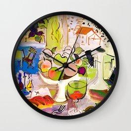 Mediterranean Still Life by Raoul Dufy Wall Clock