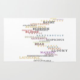 Word Inventions William Shakespeare Quote Art - Typography Rug