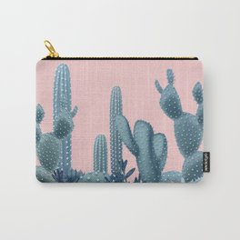 Milagritos Cacti on Rose Quartz Background Carry-All Pouch