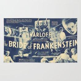 Bride of Frankenstein, vintage horror movie poster Rug