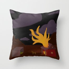 Night Fire Throw Pillow