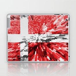 Extruded Flag of Denmark Laptop & iPad Skin