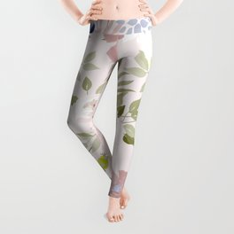Watercolour Flower Pattern Leggings