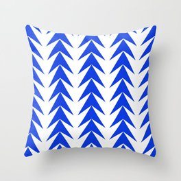 Blu arrows pointing up pattern Throw Pillow