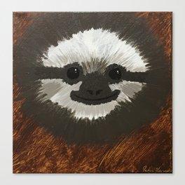 Smilie Sloth Canvas Print