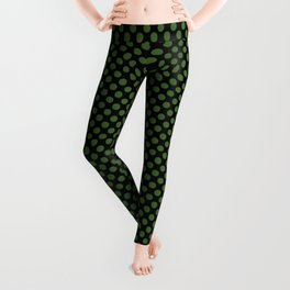 Black and Treetop Polka Dots Leggings