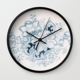 Vintage Flower Flow Wall Clock