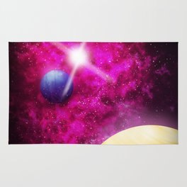 Purple Nebula Rug