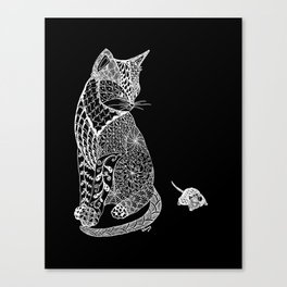 Elegant Cat and Mouse Canvas Print