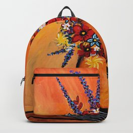 Flowers On Table Backpack