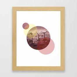 Full House Row Framed Art Print