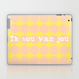 i love you in dutch Laptop & iPad Skin
