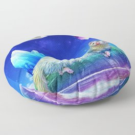 Ferret in the Sky with Crystals Floor Pillow