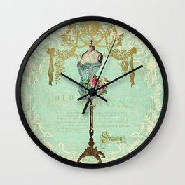 Mannequin Rose Wall Clock