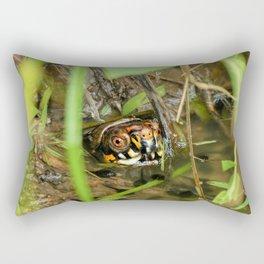 Box Turtle and Tadpoles Rectangular Pillow