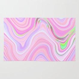 Pastel Pink & Violet Lava Marble Rug