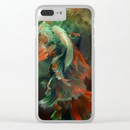 """Betta splendens Deep water (Siam fighter)"" Clear iPhone Case"