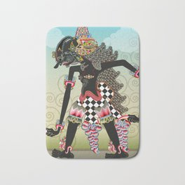 Wayang or shadow puppets Bath Mat