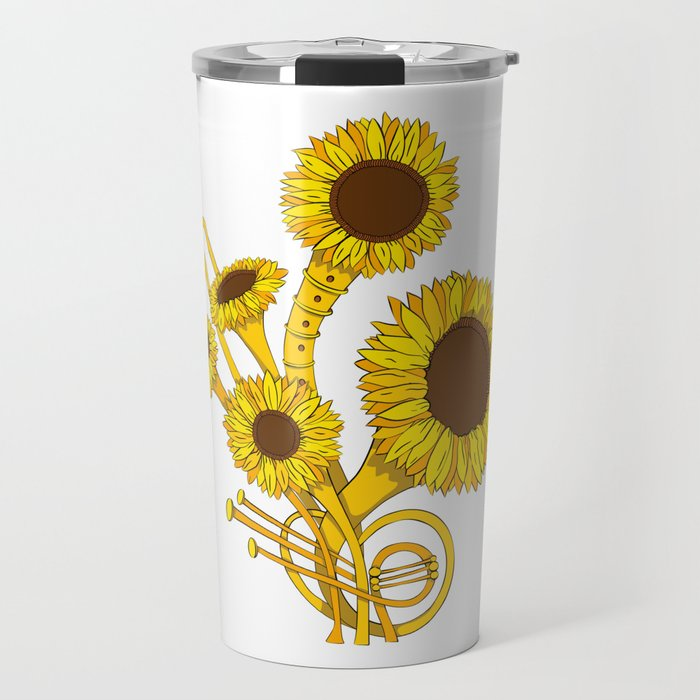 Sunflower Orchestra Travel Mug