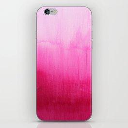 Modern fuchsia watercolor paint brushtrokes  iPhone Skin