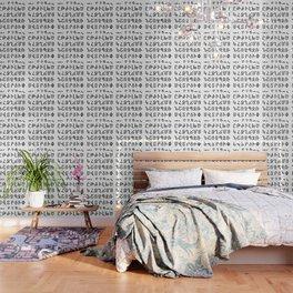 ARMENIAN ALPHABET - Black and White Wallpaper