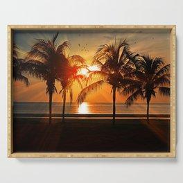 Palm Tree Sun Rise Serving Tray