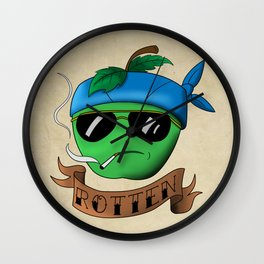 Rotten Apple Wall Clock