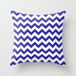 Chevron (Navy & White Pattern) Throw Pillow