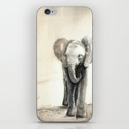Baby Elephant Walking iPhone Skin