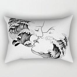 wavy kiss. Rectangular Pillow