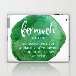 Fernweh Word Nerd - Green Watercolor Laptop & iPad Skin