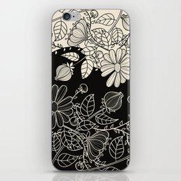 FLOWERS EBONY AND IVORY iPhone Skin
