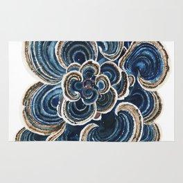 Blue Trametes Mushroom Rug