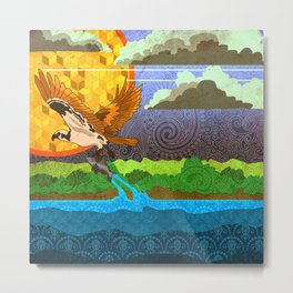 Osprey River Hunt Metal Print