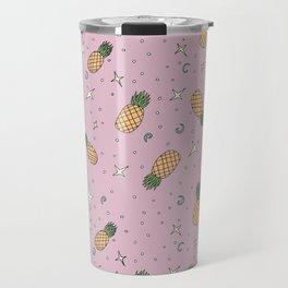 Atomic Pineapple - Pink Travel Mug