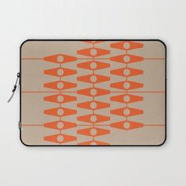 abstract eyes pattern orange tan Laptop Sleeve